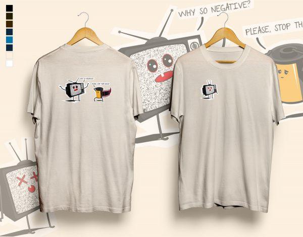 Why so negative? t-shirt sand