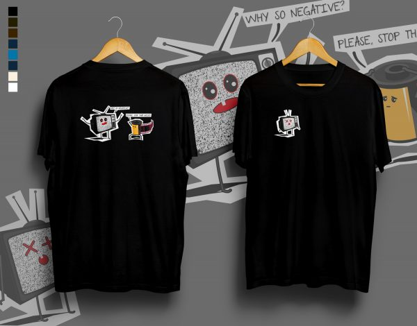 Why so negative? t-shirt in black