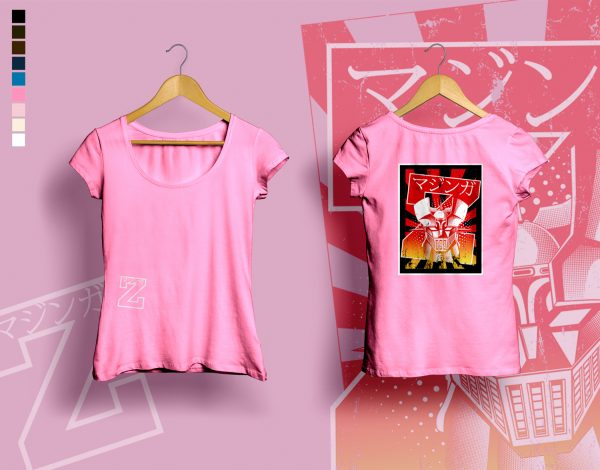 woman t-shirt BURNING MAZINGER azalea