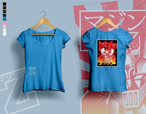 woman t-shirt BURNING MAZINGER navy blue