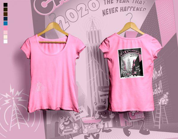 woman t-shirt CALENWARS azalea