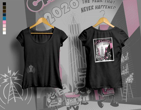 woman t-shirt CALENWARS Black
