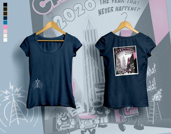 woman t-shirt CALENWARS dark blue