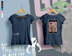 woman t-shirt GROGU dark-blue
