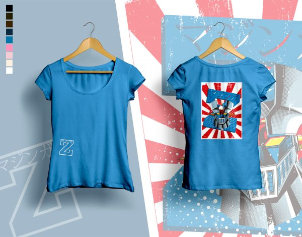 woman t-shirt MAZINGER was here navy blue