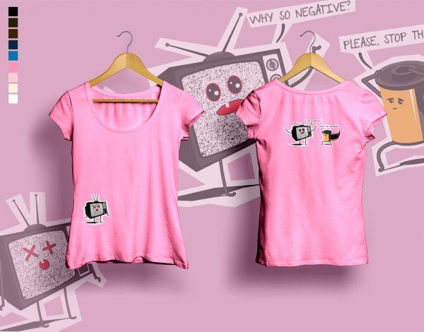woman t-shirt WHY SO NEGATIVE azalea